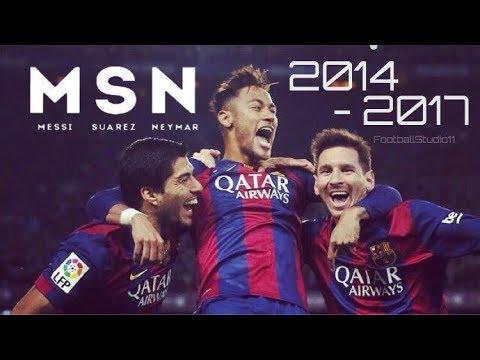 【世界を驚愕させた最強3トップ】MSN-メッシ•スアレス•ネイマール 2014-2017 今まで魅せてきた最高峰のプレー集 Messi-Suarez-Neymar Amazing Trio