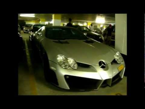Amazing supercars parking in Cannes (Mansory SLR, McLaren ...)