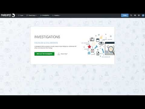 ThreatQ Investigations - Creating an Investigation
