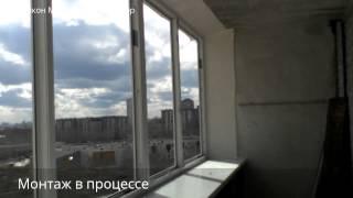 Остекление балкона на Новгородцевой 35 (типовый балкон ЖБИ)(, 2015-04-22T19:10:40.000Z)