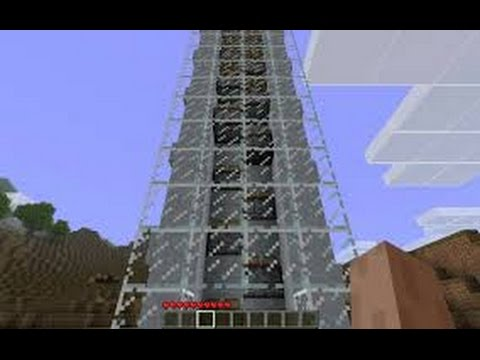Hướng dẫn làm thang máy lên và xuống trong Minecraft 1.8