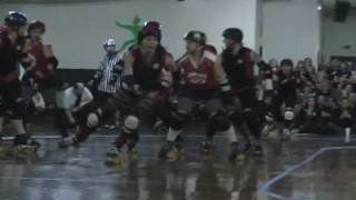 Derby City Roller Girls vs  Rollergirls of Southern Indiana mar 2011
