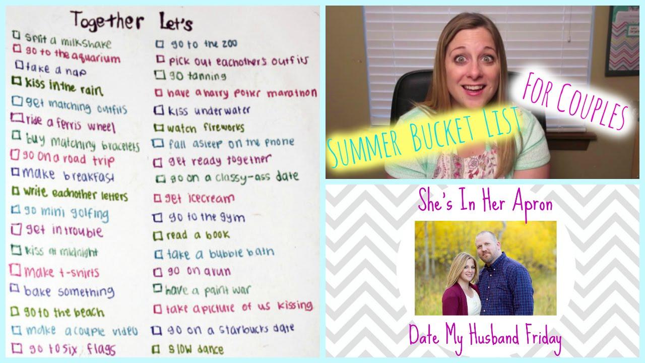 Dating couple bucket list