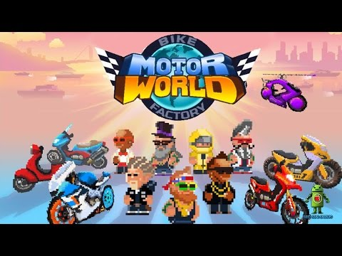 MOTOR WORLD Bike Factory (iOS / Android) Gameplay HD
