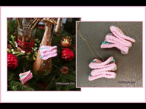 How to Crochet Tutorial: DIY Candy Curl Swirl Ornament by YARNutopia thumbnail