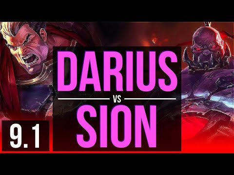 DARIUS vs SION (TOP) (DEFEAT) | Korea Challenger | v9.1