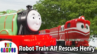 Robot Train Alf Rescues Henry | Thomas and Friends | ToyCampus