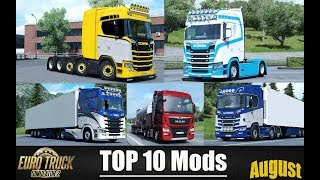 ✅ TOP 10 MODS for Euro Truck Simulator 2 - August 2018