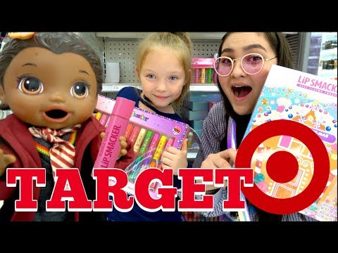 BABY ALIVE goes SHOPPING at TARGET! The Lilly and Mommy Show. The TOYTASTIC Sisters. FUNNY SKIT!