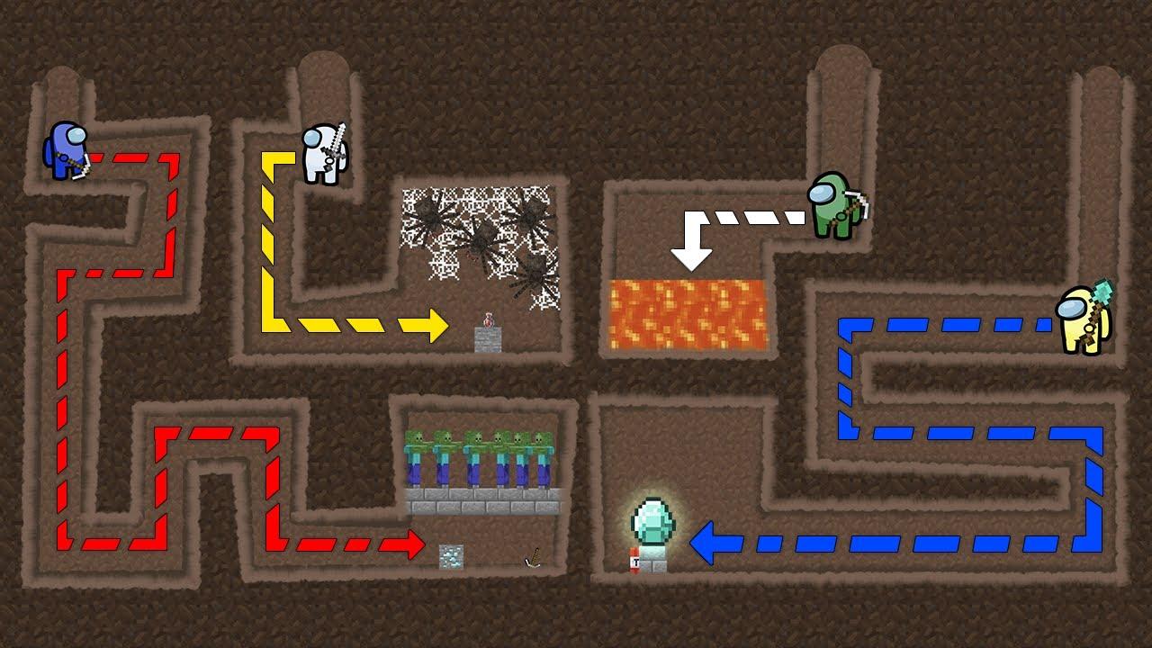 Among Us vs Maze to Treasure Minecraft - Animation EP8