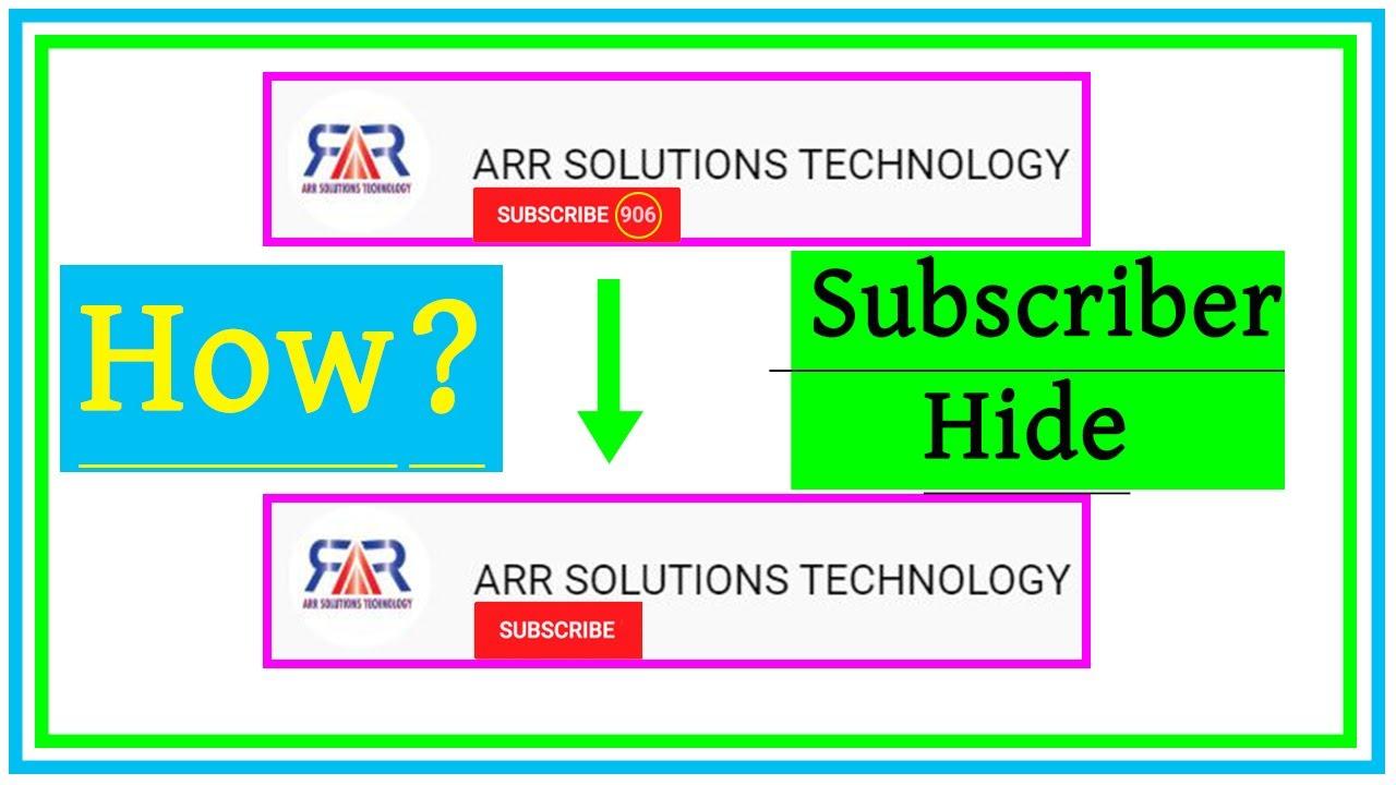 How to hide subscribers on YouTube   Bangla Tutorial | কিভাবে Subscriber Hide করবেন?