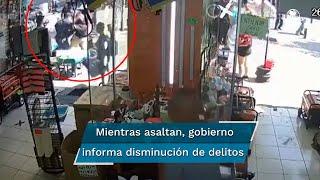El atraco ocurrió en la calle de Corregidora, vialidad que conecta con Palacio Nacional y al Zócalo capitalino