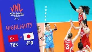 TURKEY vs. JAPAN -  Highlights Women   Week 2   Volleyball Nations League 2019