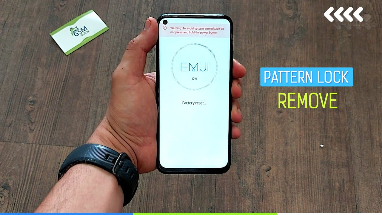 Huawei NOVA 7I hard reset Pattern unlock / screen lock remove with bouton