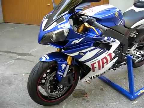 yamaha r1 2008 fiat team replica janin ossi yamaha italy youtube. Black Bedroom Furniture Sets. Home Design Ideas