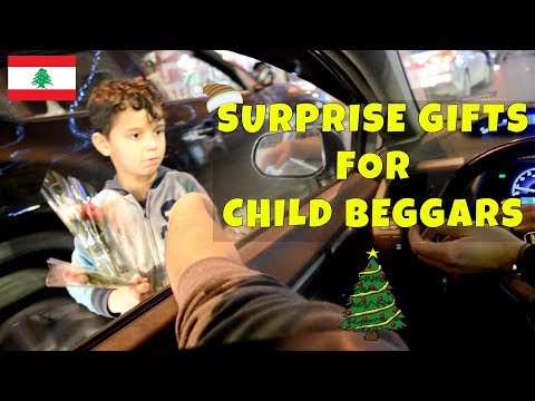 Surprise Gifts for Child Beggars in Beirut
