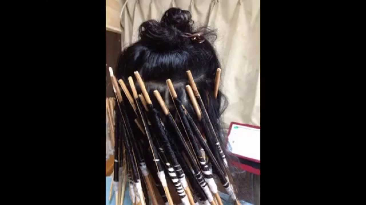 Spiral Perm At Home☆(long Hair ™�) Youtube