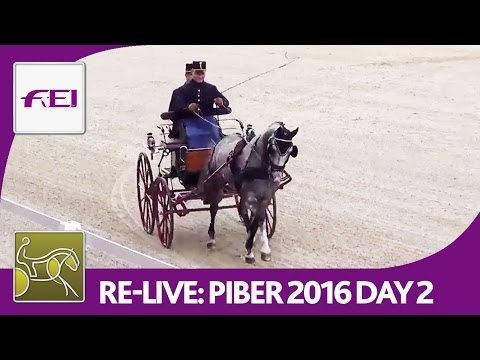 Re-Live | FEI World Championships For Single Driving | Dressage Day 2 | Piber 2016
