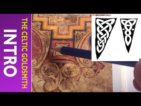 How to Draw Celtic Patterns 106 - Triquetra interlace from Book of Kells 1of7