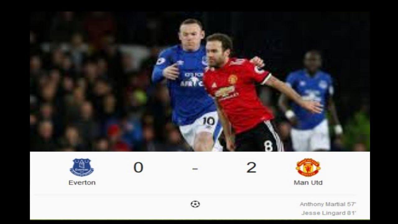 Everton vs Mu 0-2 Highlights 02/01/2018 HD - YouTube