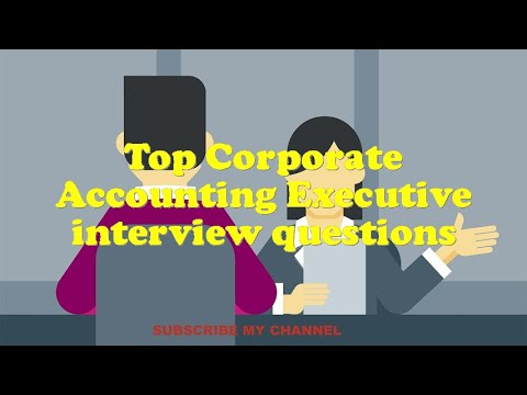 Top Corporate Accounting Executive interview questions
