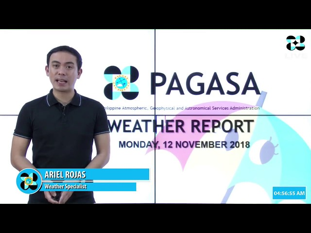 Public Weather Forecast Issued at 4:00 AM November 12, 2018