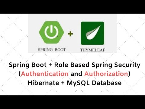spring-boot-+-role-based-spring-security-(authentication-and-authorization)-+-hibernate-+-mysql