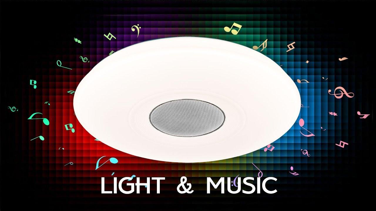 Люстра музыкальная с Bluetooth и пультом Citilux Light & Music CL703M50A Хром+Оркестр