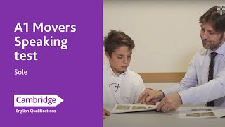 A1 Movers Speaking test – Sole | Cambridge English