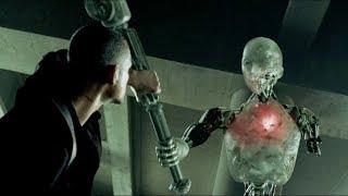 """Детектив Дэл Спунер против робота - """"Я робот"""" отрывок из фильма"""