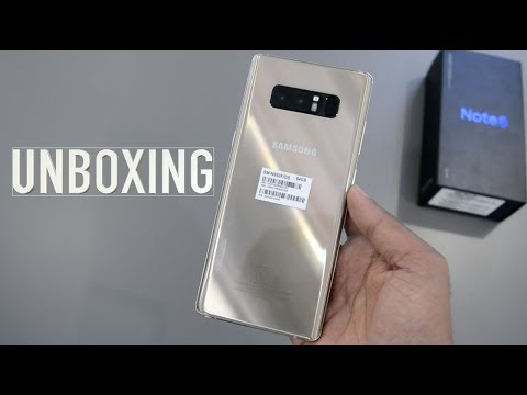 Samsung Galaxy NOTE 8 UNBOXING   Impressions (Maple Gold)