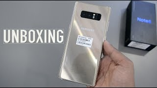 Samsung Galaxy NOTE 8 UNBOXING & Impressions (Maple Gold):
