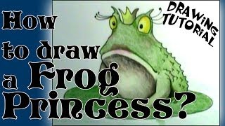 How to draw the Frog Princess
