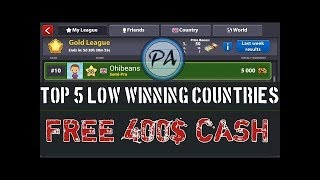 How we get low winning country in 8 ball pool 2018