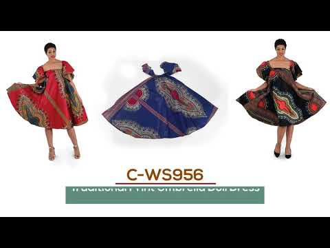Umbrella dress in traditional print from Africa Imports