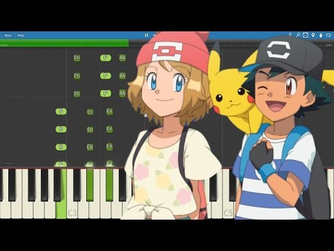 Pokemon Sun & Moon Series Theme Song - Piano Tutorial - Instrumental