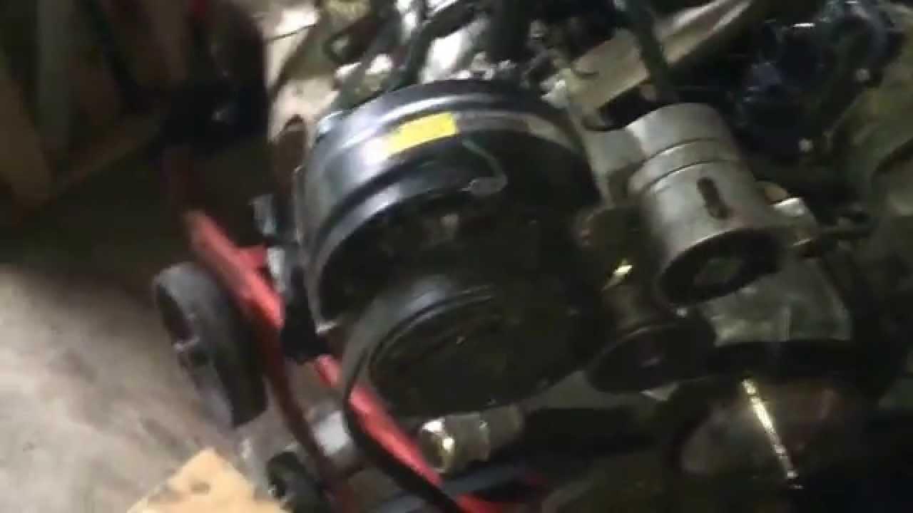Test fitting a/c bracket on my ls1