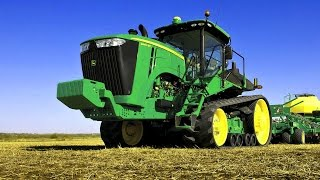 Мультфильм про трактор работающий в поле для малышей и детей.