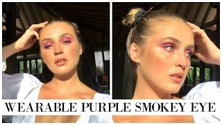 Glowing From The *Heavens* Purple Makeup Look ✨#FFF