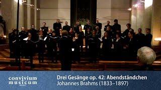 convivium musicum mainz: Brahms - Drei Gesänge op. 42 - Nr. 1: Abendständchen