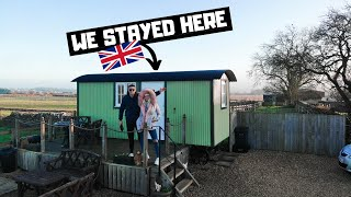 Our Tiny Home! Staying In A Shepherds Hut, Cotswolds Uk?!  Full Tour