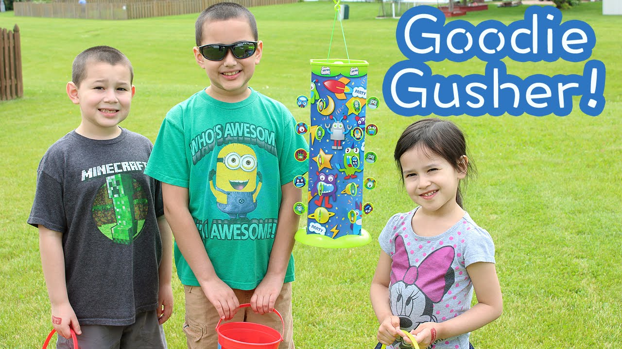 The Goodie Gusher! The Ultimate Alternative to the Piñata! - YouTube