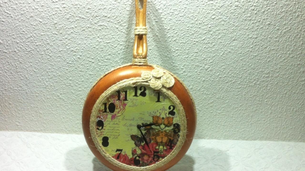 Como hacer un reloj de cocina reciclando una sart n vieja - Reloj cocina original ...