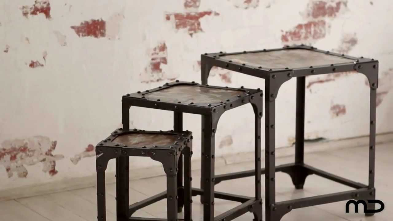 Nest Of Tables   Industrial Furniture   Vintage   Milan Direct
