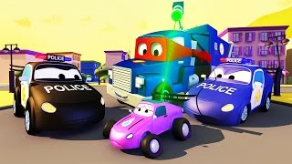 CARL the SUPER TRUCK is the POLICE TRUCKS in CAR CITY | TRUCKS CARTOON for KIDS