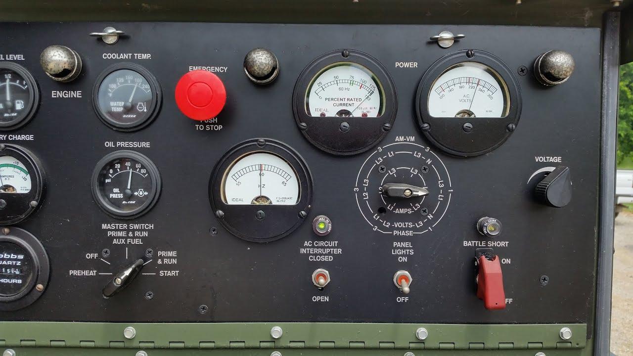MEP-803A diesel generator load bank run 3kw thru 16kw