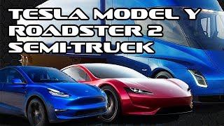 Tesla Model Y,Roadster 2 & Semi-Truck Reveal