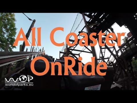 Disneyland Paris - All Coaster OnRide - Indiana Jones - Space Mountain - Big Thunder Mountain