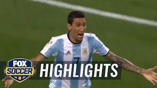 Di maria puts argentina ahead against chile | 2016 copa america highlights