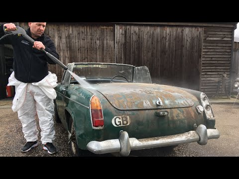 Mg midget first wash in 29 years PT3